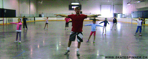 Coach Zdenek Pazdirek demonstrating Skate Spinner